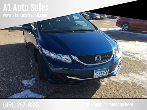2015 Honda Civic for sale at A1 Auto Sales in Chisago City MN