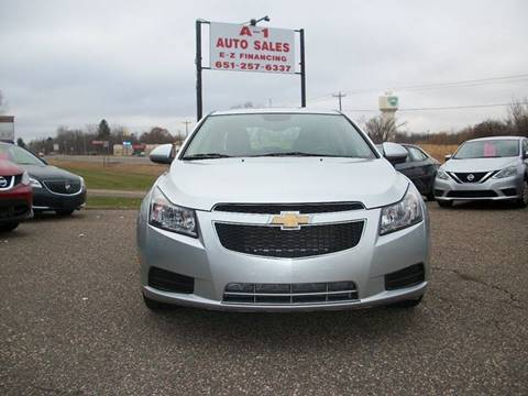 2014 Chevrolet Cruze for sale at A1 Auto Sales in Chisago City MN