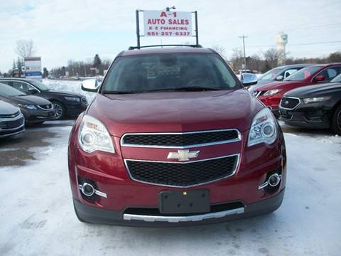 2012 Chevrolet Equinox for sale at A1 Auto Sales in Chisago City MN