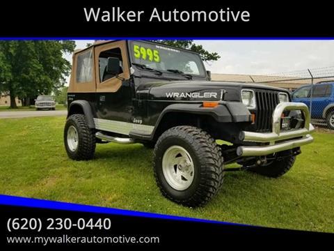 1992 Jeep Wrangler S for sale at Walker Automotive in Frontenac KS