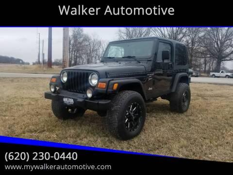 2000 Jeep Wrangler Sport for sale at Walker Automotive in Frontenac KS