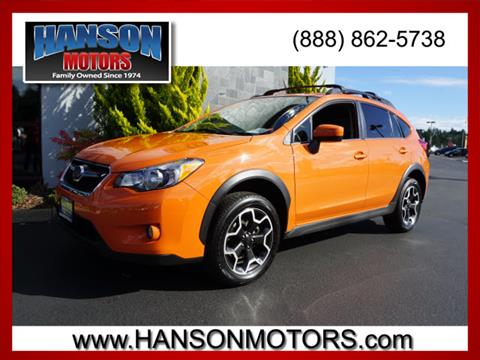 2015 Subaru XV Crosstrek for sale in Olympia WA