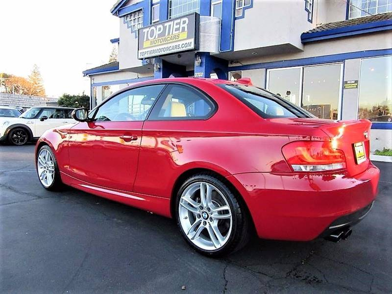 2012 bmw 1 series 135i 2dr coupe in san jose ca top tier. Black Bedroom Furniture Sets. Home Design Ideas