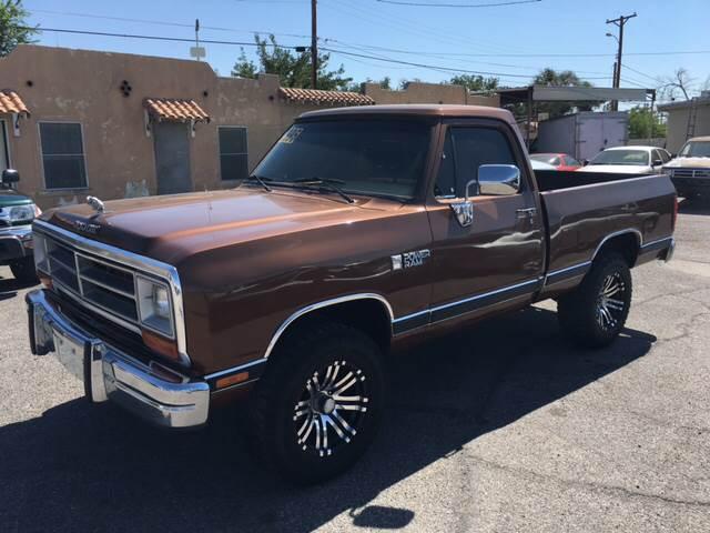 1986 Dodge RAM 150 for sale at AUTO TEAM in El Paso TX