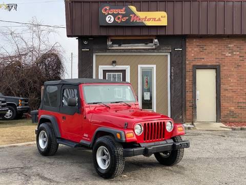 2005 Jeep Wrangler SE for sale at Good 2 Go Motors LLC in Adrian MI