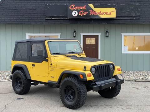 2000 Jeep Wrangler Sport for sale at Good 2 Go Motors LLC in Adrian MI