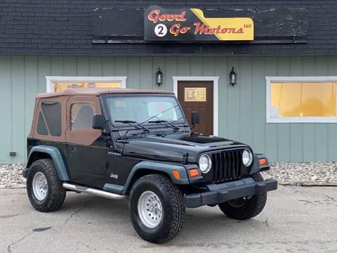 1998 Jeep Wrangler SE for sale at Good 2 Go Motors LLC in Adrian MI