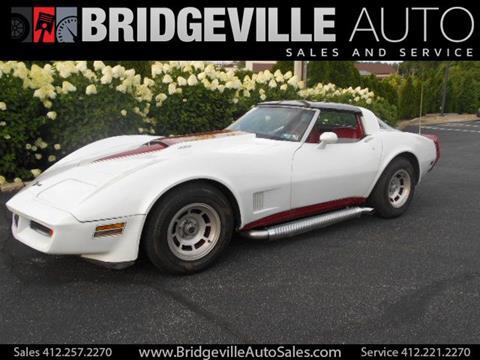 1981 Chevrolet Corvette for sale in Bridgeville, PA