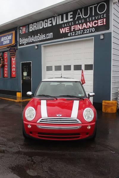 2006 mini cooper 2dr hatchback in bridgeville pa bridgeville auto sales. Black Bedroom Furniture Sets. Home Design Ideas