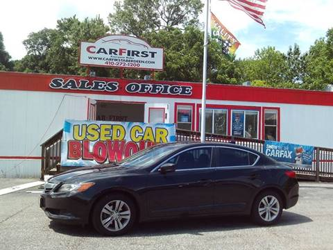 2013 Acura ILX for sale at CARFIRST ABERDEEN in Aberdeen MD