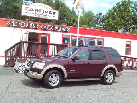 2008 Ford Explorer for sale at CARFIRST ABERDEEN in Aberdeen MD