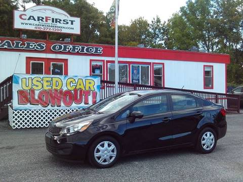 2014 Kia Rio for sale at CARFIRST ABERDEEN in Aberdeen MD