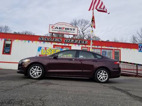 2013 Ford Fusion for sale at CARFIRST ABERDEEN in Aberdeen MD