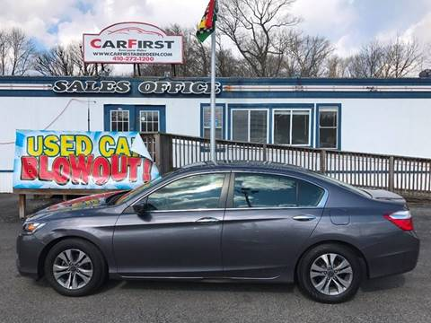 2014 Honda Accord for sale at CARFIRST ABERDEEN in Aberdeen MD