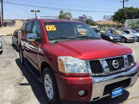 2005 Nissan Armada for sale at Sanmiguel Motors in South Gate CA
