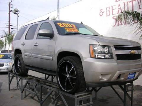 2007 Chevrolet Tahoe for sale at Sanmiguel Motors in South Gate CA