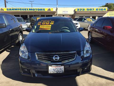 2008 Nissan Maxima for sale at Sanmiguel Motors in South Gate CA