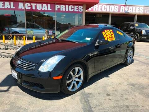 2004 Infiniti G35 for sale at Sanmiguel Motors in South Gate CA