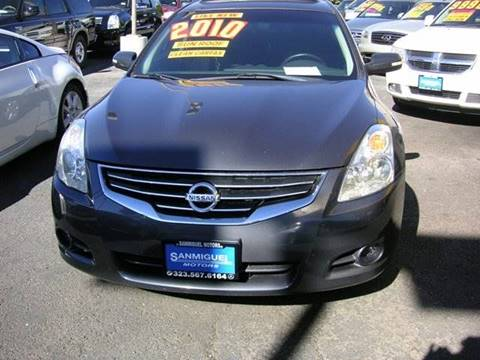 2010 Nissan Altima for sale at Sanmiguel Motors in South Gate CA