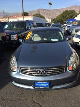 2005 Infiniti G35 for sale at Sanmiguel Motors in South Gate CA