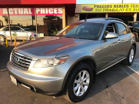 2006 Infiniti FX35 for sale at Sanmiguel Motors in South Gate CA