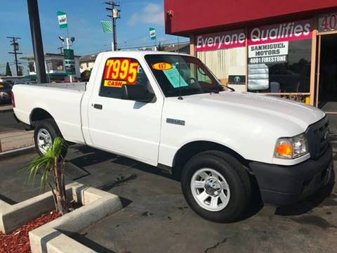 2007 Ford Ranger for sale at Sanmiguel Motors in South Gate CA