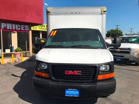 2011 GMC Savana Cutaway for sale at Sanmiguel Motors in South Gate CA