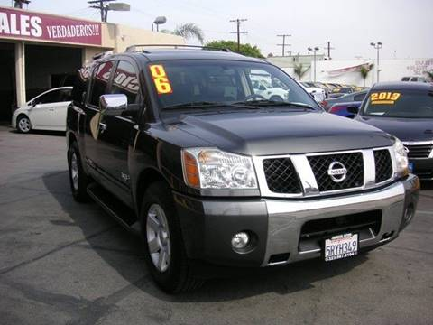 2006 Nissan Armada for sale at Sanmiguel Motors in South Gate CA
