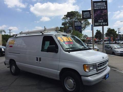 2000 Ford E-150 for sale at Sanmiguel Motors in South Gate CA