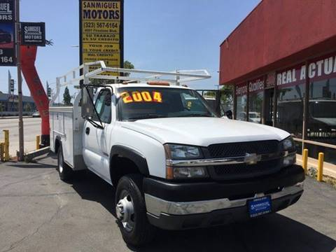 2004 Chevrolet Silverado 3500HD for sale at Sanmiguel Motors in South Gate CA