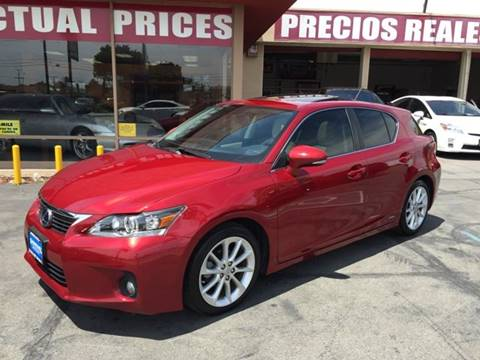 2012 Lexus CT 200h for sale at Sanmiguel Motors in South Gate CA