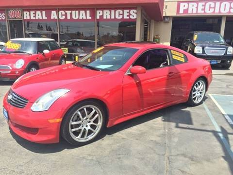 2006 Infiniti G35 for sale at Sanmiguel Motors in South Gate CA