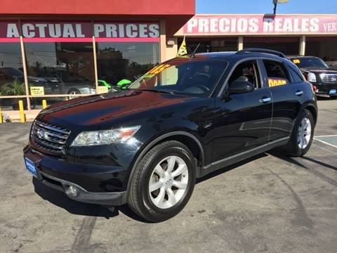 2005 Infiniti FX35 for sale at Sanmiguel Motors in South Gate CA