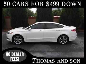 2013 Ford Fusion for sale in Zephyrhills, FL