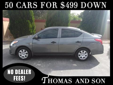 2016 Nissan Versa for sale in Zephyrhills, FL