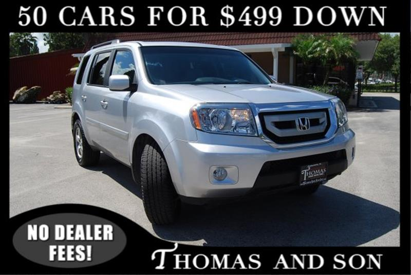 2011 Honda Pilot For Sale At Thomas U0026 Son Inc In Zephyrhills FL