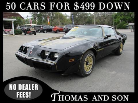 1979 Pontiac Firebird for sale in Zephyrhills, FL