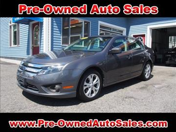 2012 Ford Fusion for sale in Salem, MA