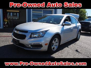 2016 Chevrolet Cruze Limited for sale in Salem, MA