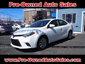 2015 Toyota Corolla for sale in Salem, MA