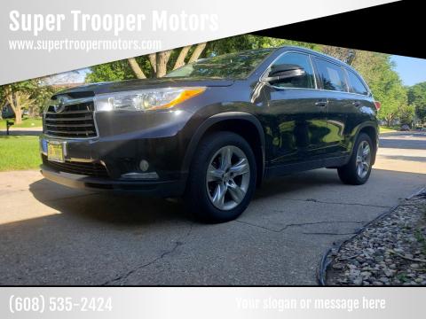 2015 Toyota Highlander for sale at Super Trooper Motors in Madison WI