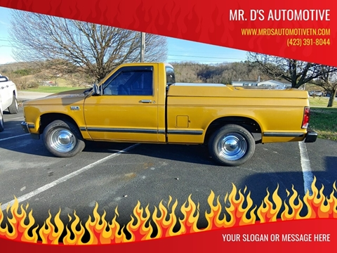 1985 Chevrolet S-10 for sale at Mr. D's Automotive in Piney Flats TN