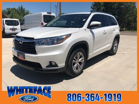 2015 Toyota Highlander for sale in Hereford, TX