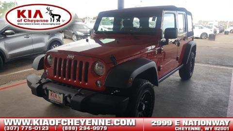 2015 Jeep Wrangler Unlimited for sale in Cheyenne, WY