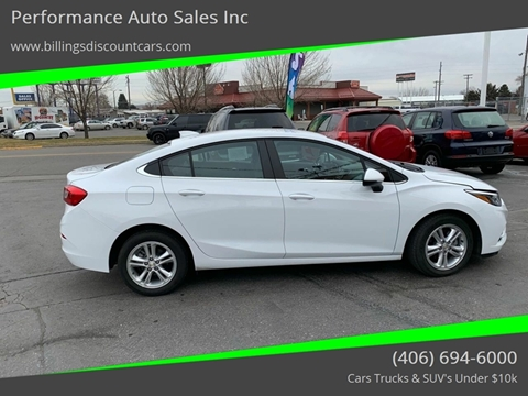 2018 Chevrolet Cruze for sale in Billings, MT