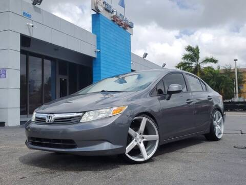 2012 Honda Civic for sale at Tech Auto Sales in Hialeah FL