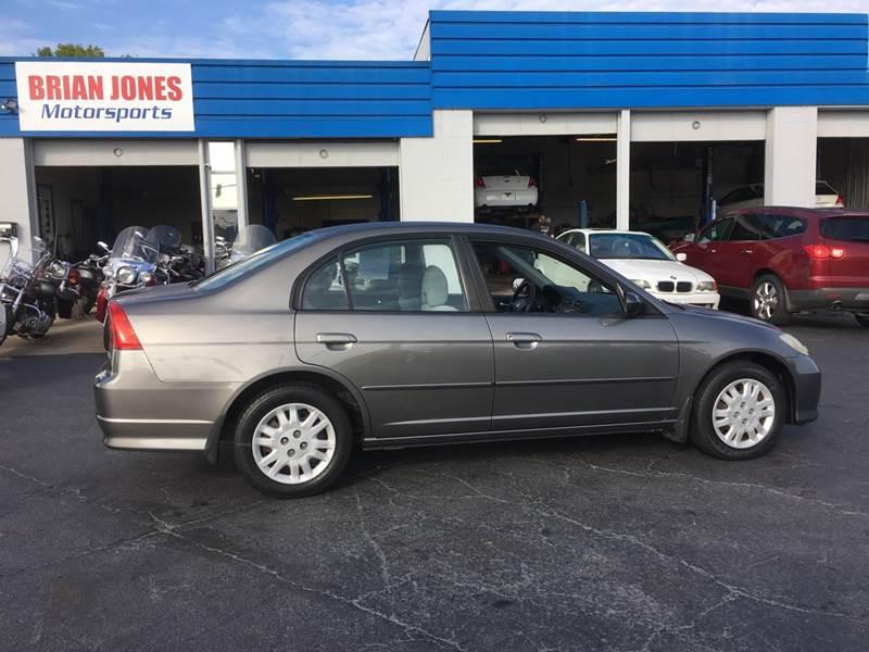 2005 Honda Civic For Sale At Brian Jones Motorsports Inc In Danville VA