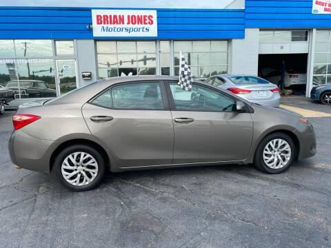 2018 Toyota Corolla for sale at Brian Jones Motorsports Inc in Danville VA