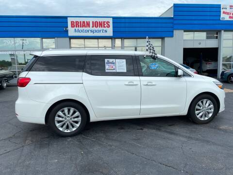 2016 Kia Sedona for sale at Brian Jones Motorsports Inc in Danville VA