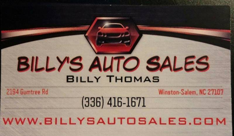 1998 Chevrolet Blazer for sale at Billy's Auto Sales in Winston Salem NC